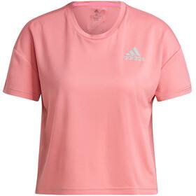 adidas Primeblue Maglietta a Maniche Corte Donna, rosa/grigio